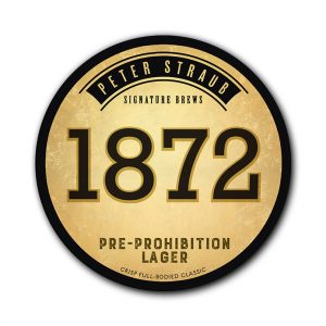 1872 Pre-Prohibition Lager label logo