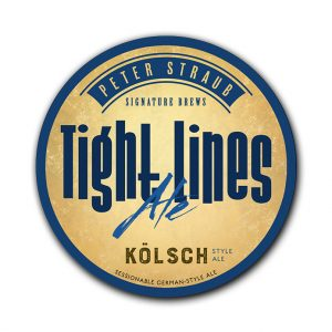 Tight Lines Ale label logo