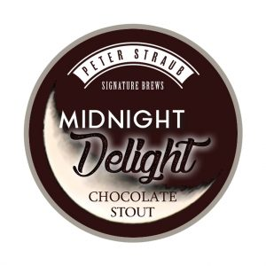 Midnight Delight Chocolate Stout label logo