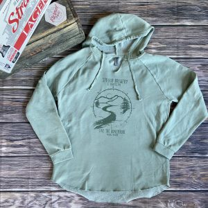 Straub women's green fleece hoodie