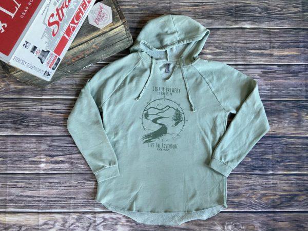 Straub women's green fleece hoodie
