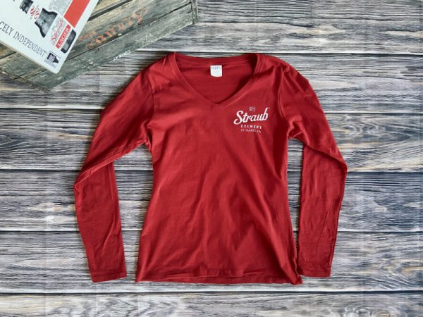 Straub women's long sleeve v-neck t-shirt
