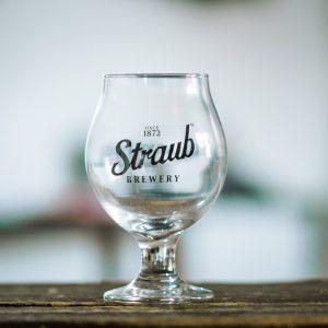 Straub Brewery Belgian glass