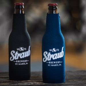 Straub Brewery logo bottle koozie