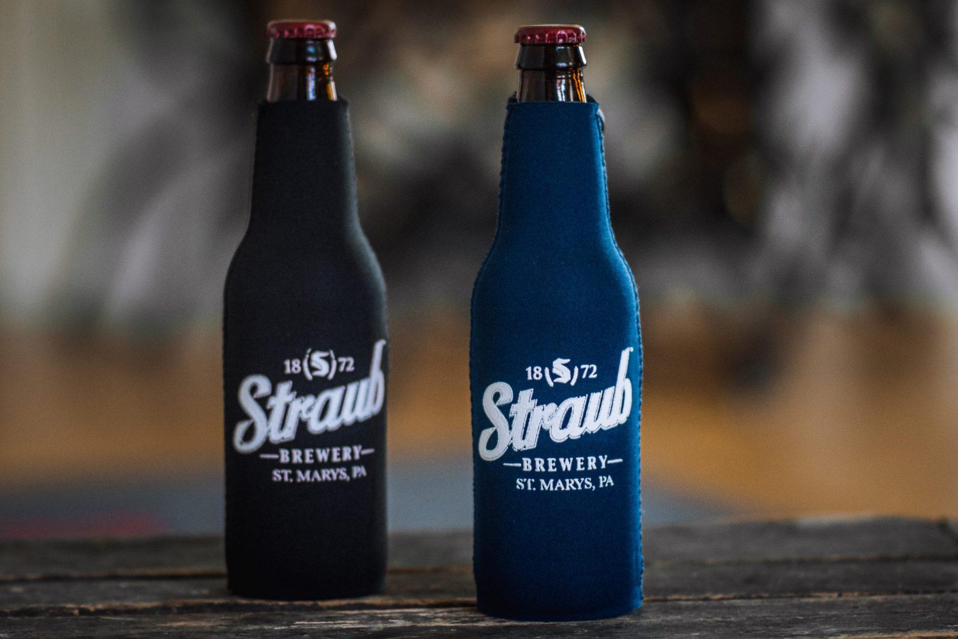 Straub Brewery logo bottle koozie