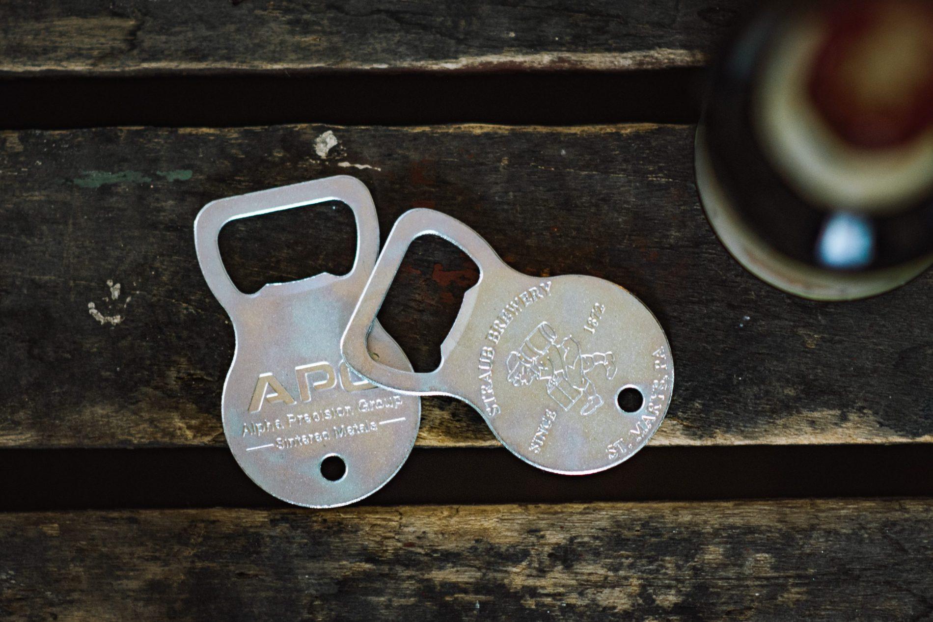 Straub bottom opener keychain