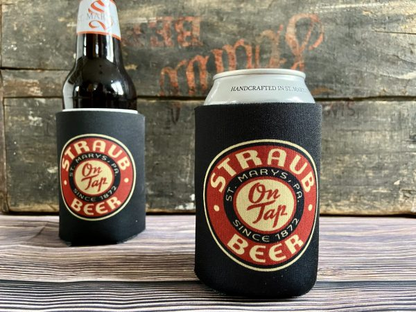 Straub Can Koozie - Black