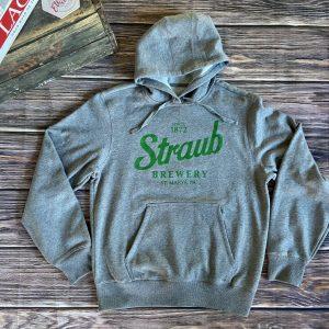 Straub gray hoodie sweatshirt