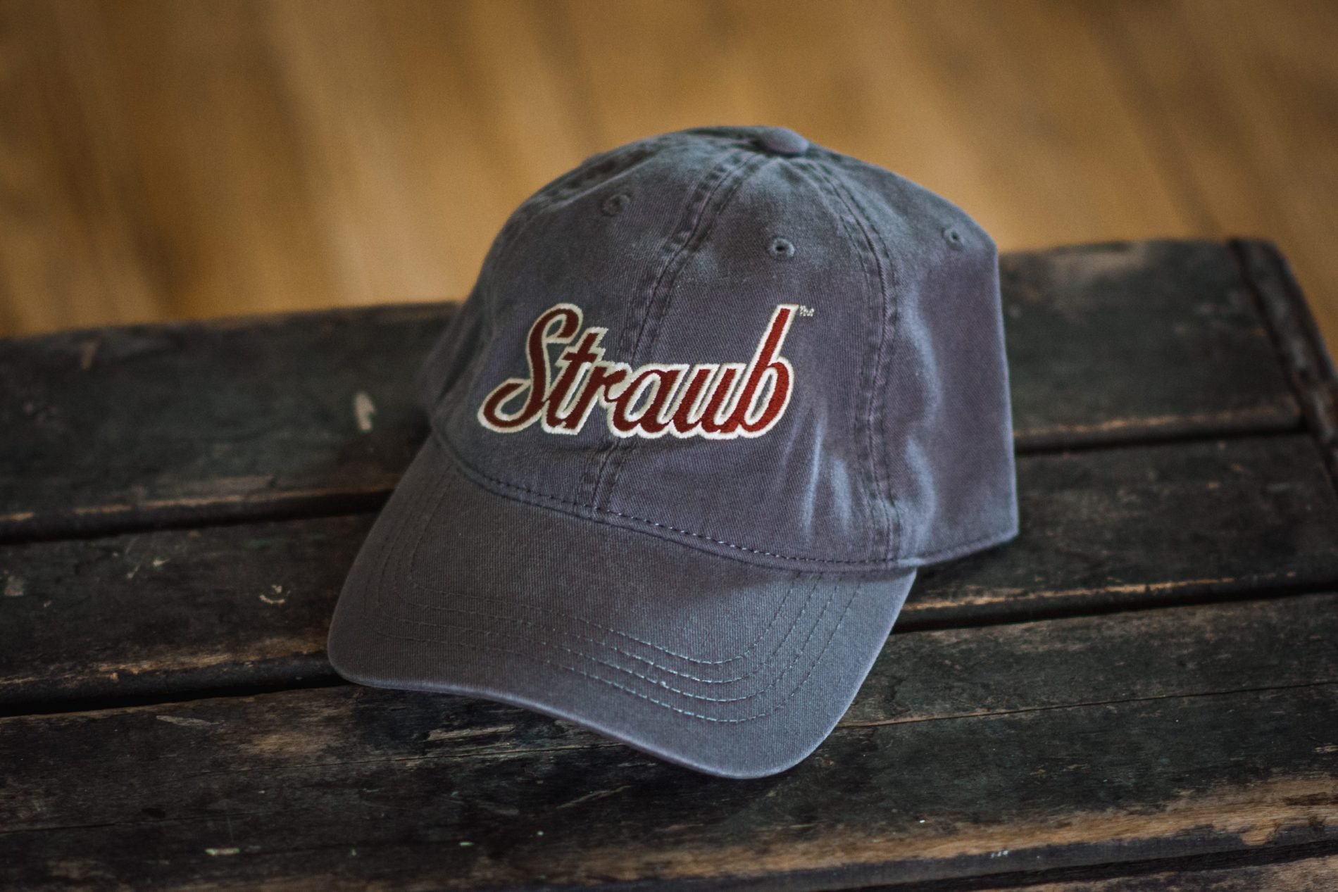 Straub vintage gray baseball hat