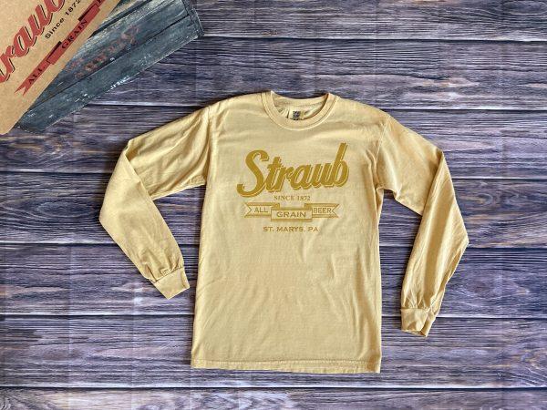 Straub long sleeve yellow tee
